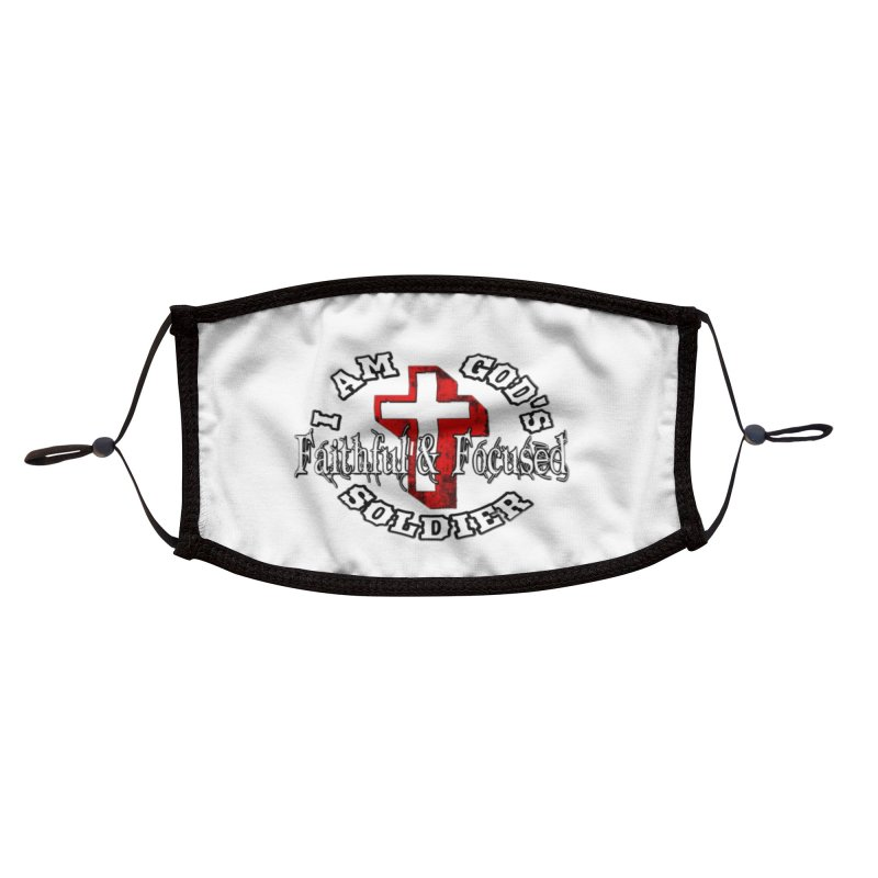 I AM GOD'S SOLDIER Accessories Face Mask by Faithful & Focused Store