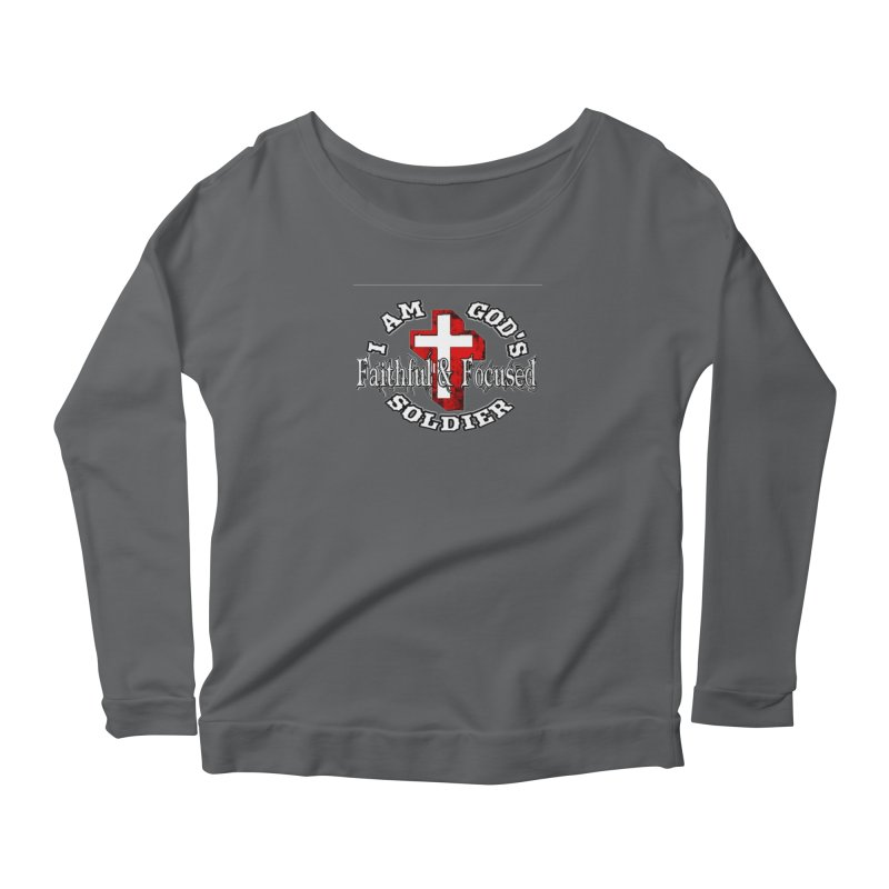I AM GOD'S SOLDIER Women's Longsleeve T-Shirt by Faithful & Focused Store