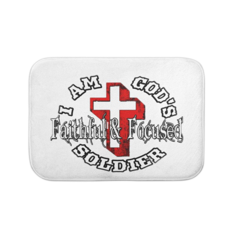 I AM GOD'S SOLDIER Home Bath Mat by Faithful & Focused Store