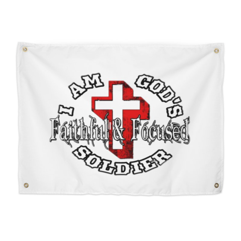 I AM GOD'S SOLDIER Home Tapestry by Faithful & Focused Store