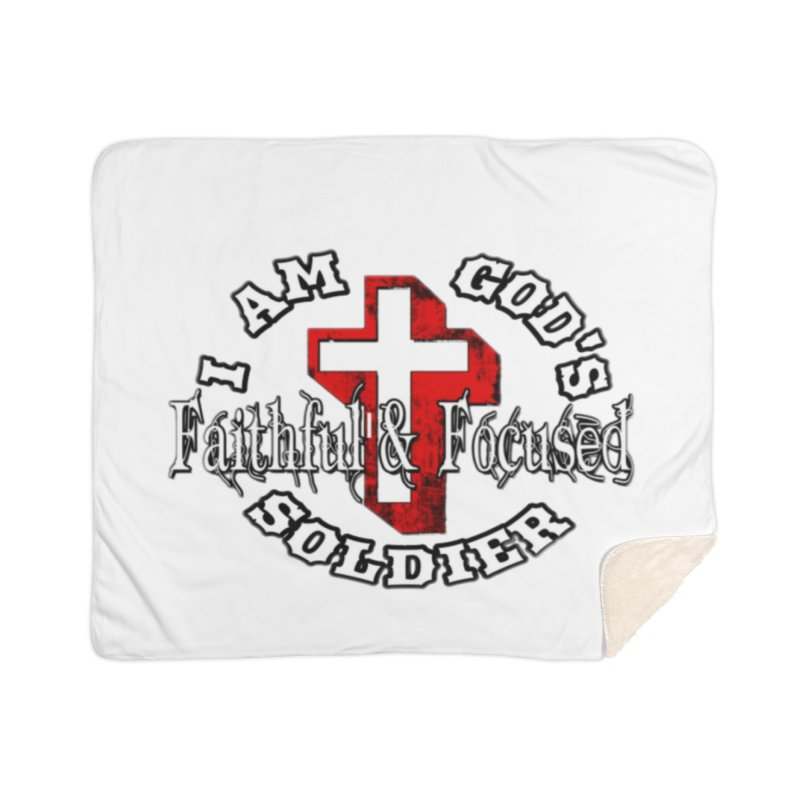 I AM GOD'S SOLDIER Home Blanket by Faithful & Focused Store