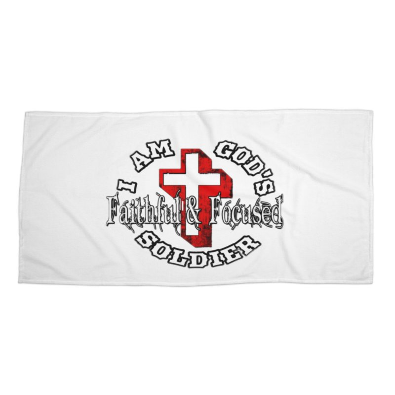 I AM GOD'S SOLDIER Accessories Beach Towel by Faithful & Focused Store