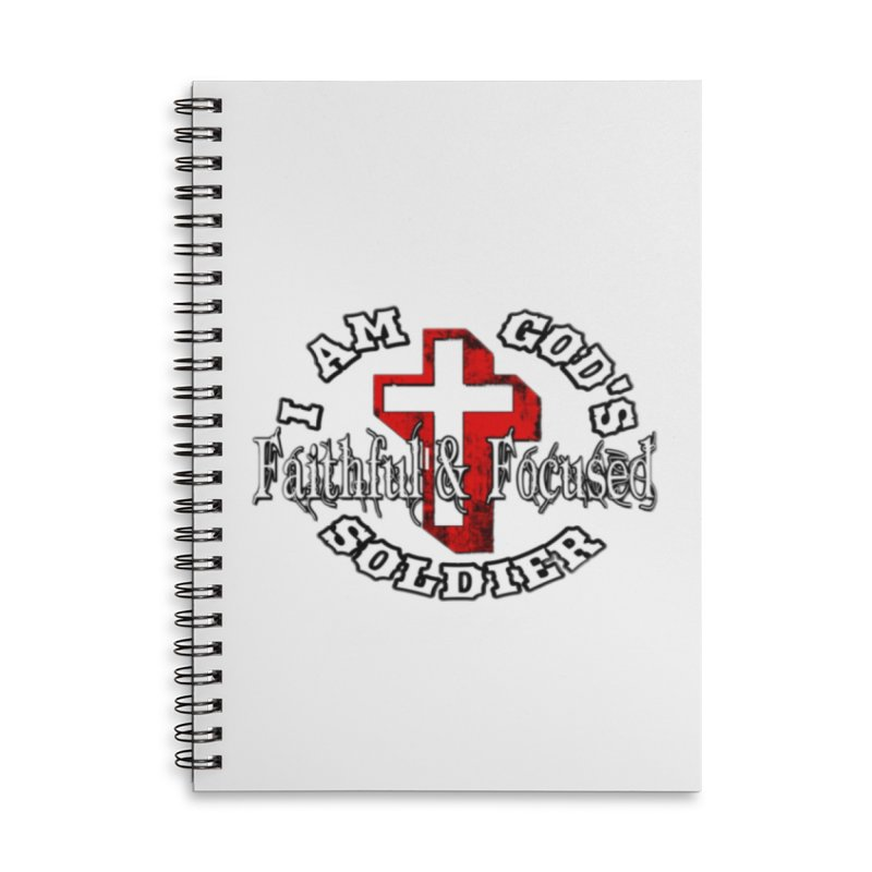 I AM GOD'S SOLDIER Accessories Notebook by Faithful & Focused Store
