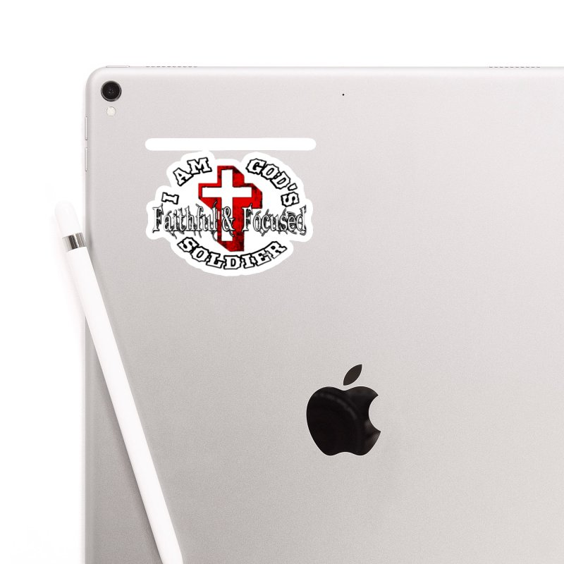 I AM GOD'S SOLDIER Accessories Sticker by Faithful & Focused Store