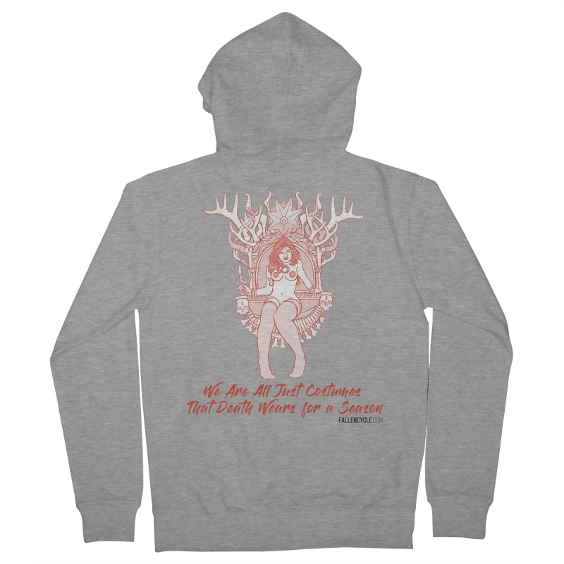 Lilith, Bone Throne Men's French Terry Zip-Up Hoody by The Fallen Cycle: Merch