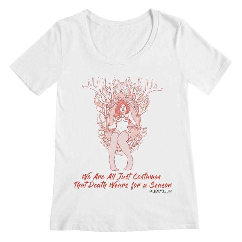 Lilith, Bone Throne Women's Regular Scoop Neck by The Fallen Cycle: Merch