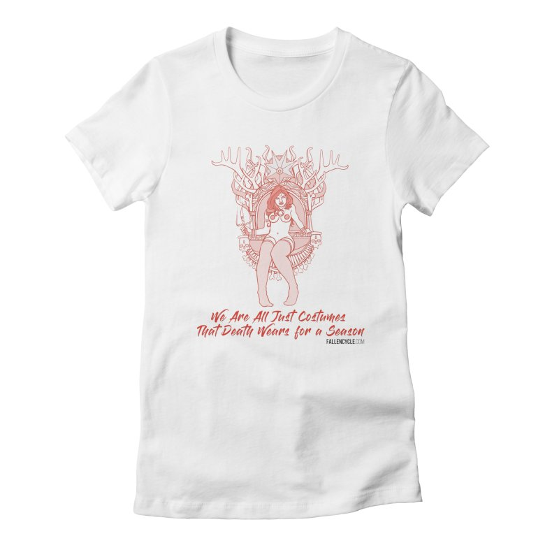 Lilith, Bone Throne Women's Fitted T-Shirt by The Fallen Cycle: Merch