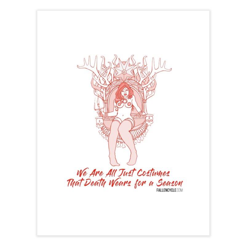 Lilith, Bone Throne Home Fine Art Print by The Fallen Cycle: Merch