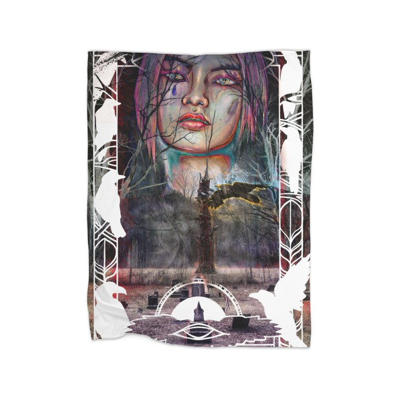 The Shaman's Granddaughter Home Fleece Blanket Blanket by The Fallen Cycle: Merch