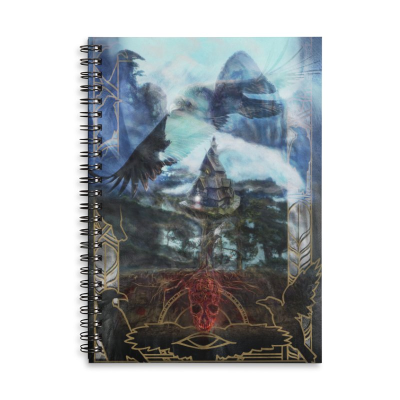 Journey to the House of Bones Accessories Lined Spiral Notebook by The Fallen Cycle: Merch