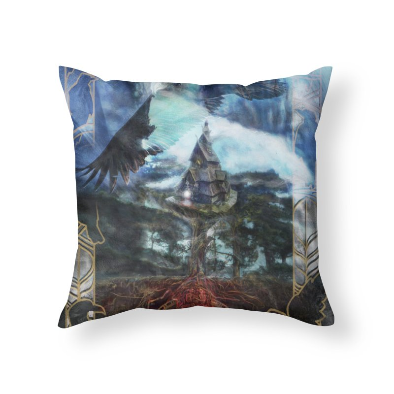 Journey to the House of Bones Home Throw Pillow by The Fallen Cycle: Merch