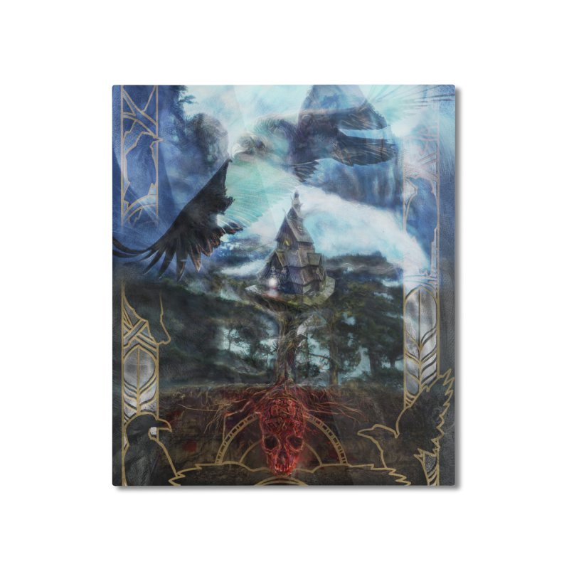 Journey to the House of Bones Home Mounted Aluminum Print by The Fallen Cycle: Merch
