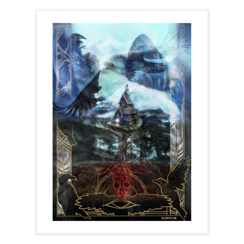 Journey to the House of Bones Home Fine Art Print by The Fallen Cycle: Merch