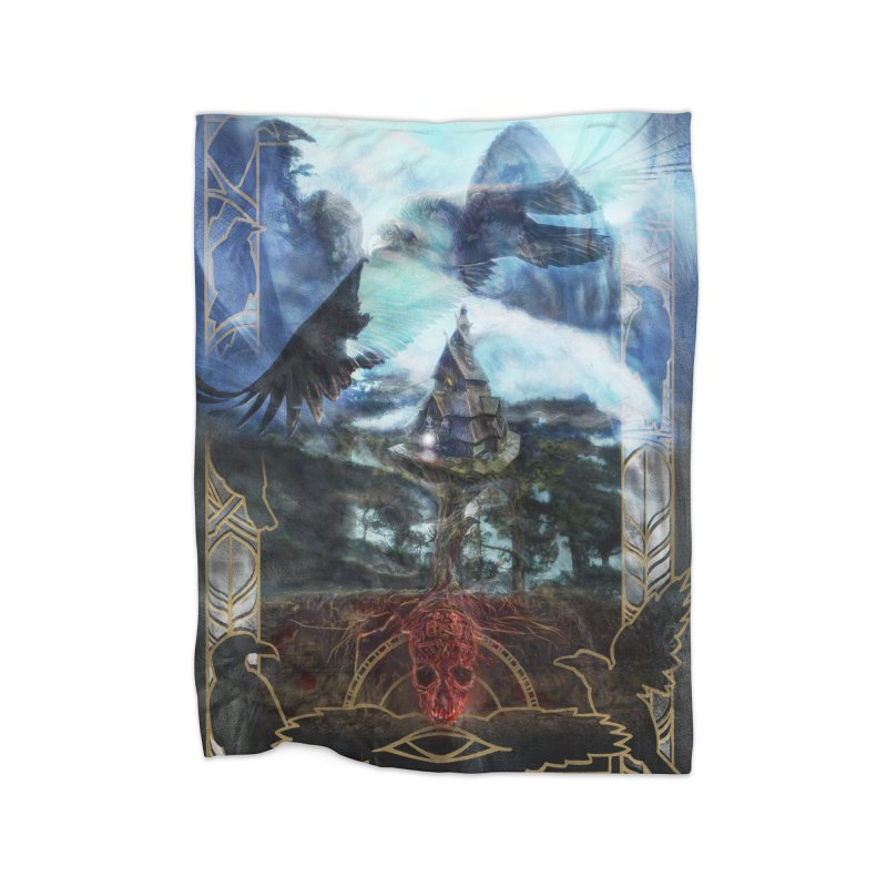 Journey to the House of Bones Home Fleece Blanket Blanket by The Fallen Cycle: Merch