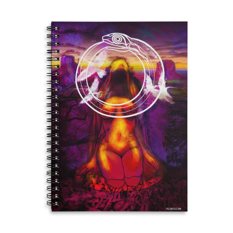 The Sisters Painting Accessories Lined Spiral Notebook by The Fallen Cycle: Merch