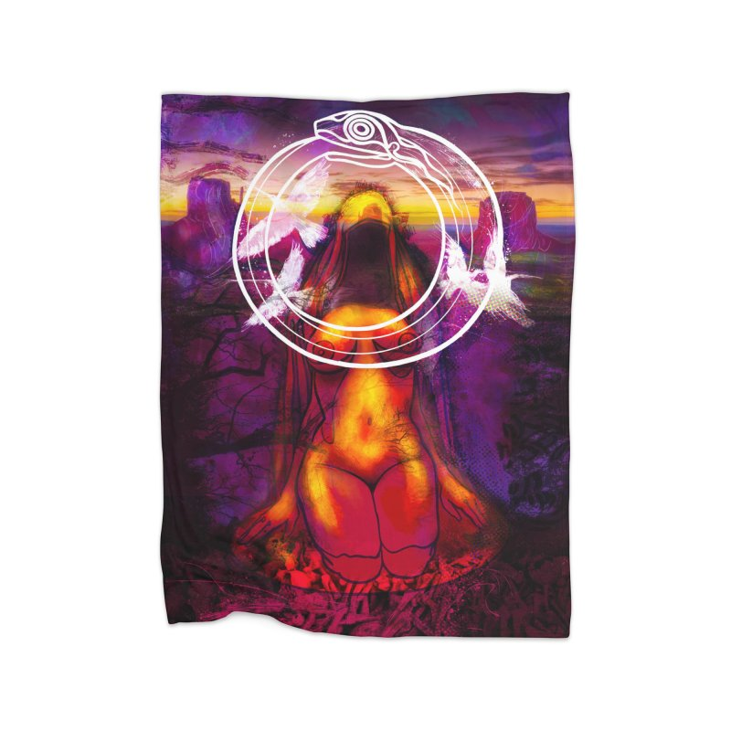 The Sisters Painting Home Fleece Blanket Blanket by The Fallen Cycle: Merch