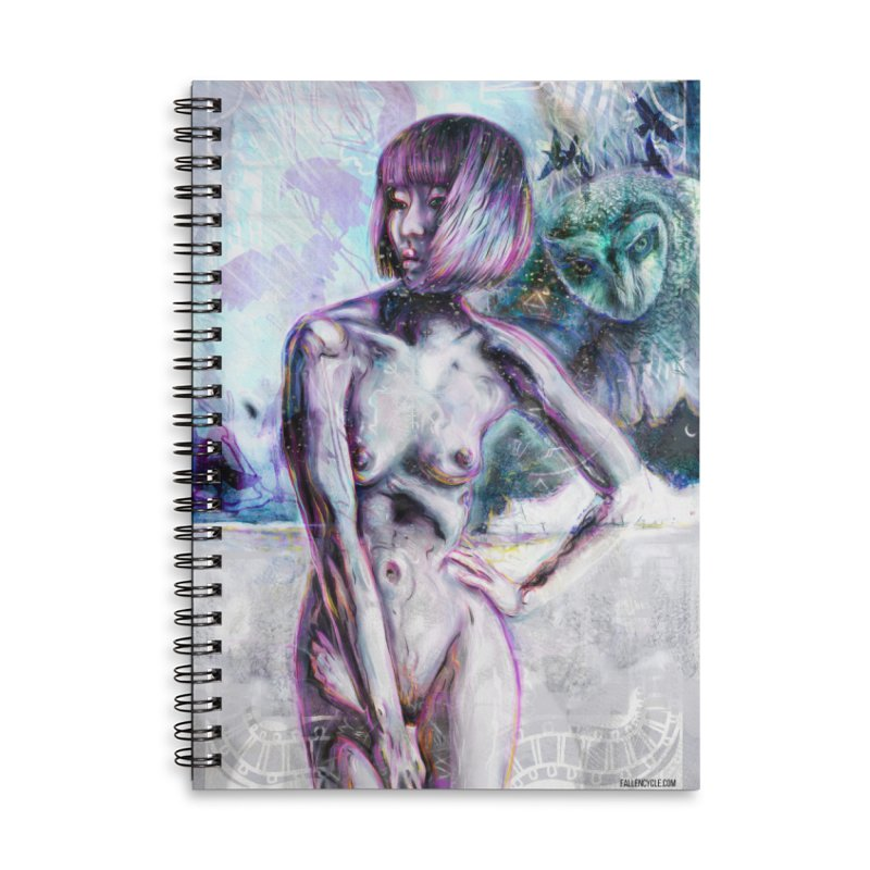 The Owl Accessories Lined Spiral Notebook by The Fallen Cycle: Merch