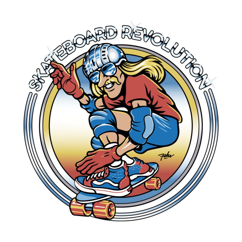 Skateboard Revolution Men's T-Shirt by falu's Artist Shop