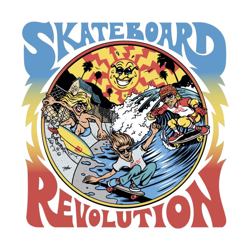 Skate Revolution Men's T-Shirt by falu's Artist Shop