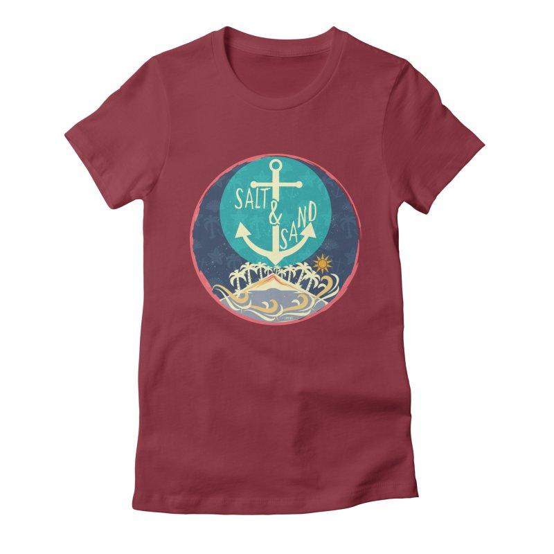 Beach Salt and Sand Women's Fitted T-Shirt by Famenxt