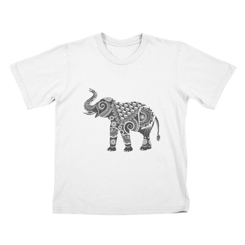 Ornate Indian Elephant Kids T-shirt by Famenxt