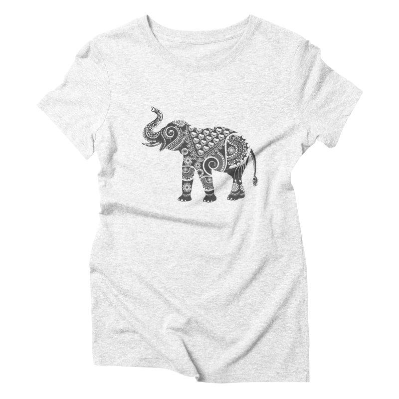 Ornate Indian Elephant Women's Triblend T-shirt by Famenxt