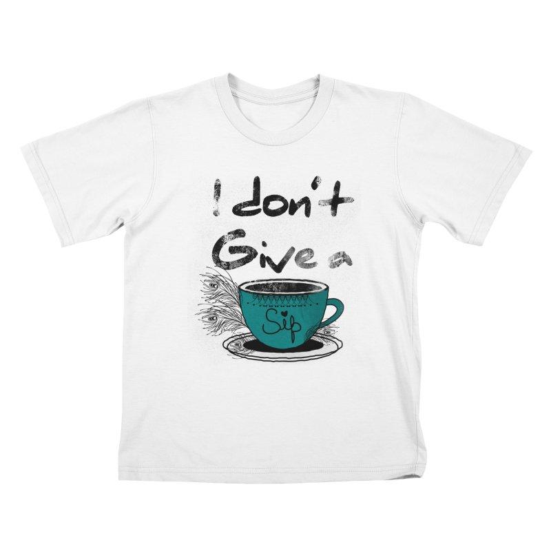 I Don't Give a Sip Kids T-shirt by Famenxt