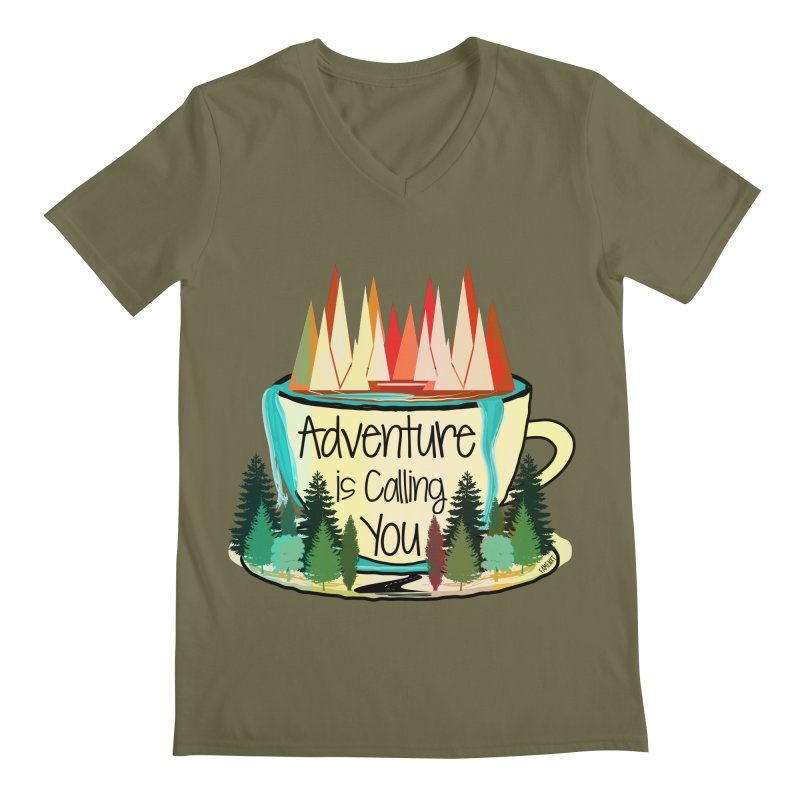 Adventure Is Calling Men's Regular V-Neck by Famenxt