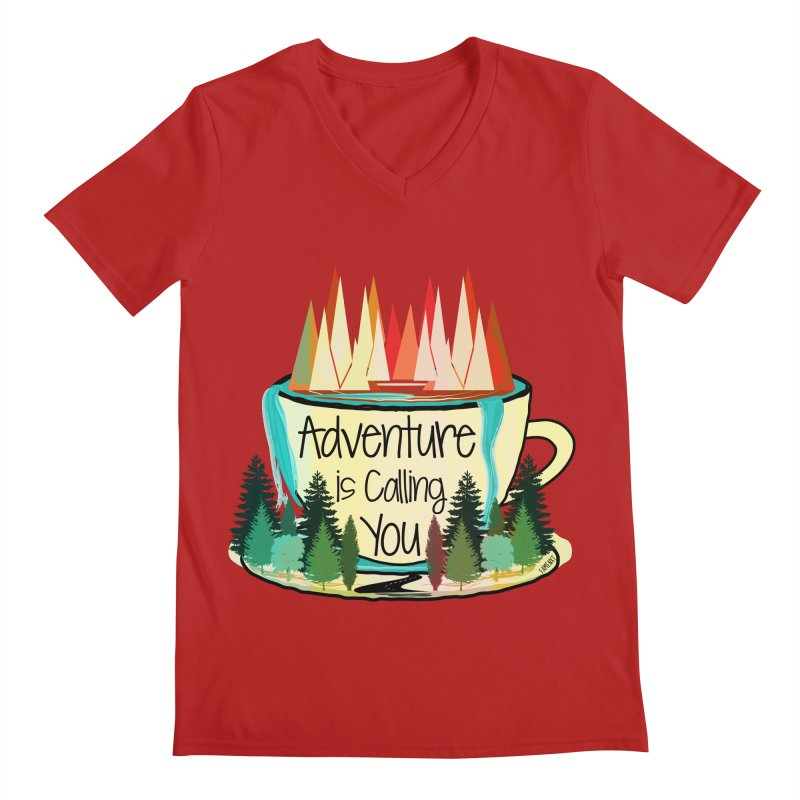 Adventure Is Calling Men's V-Neck by Famenxt