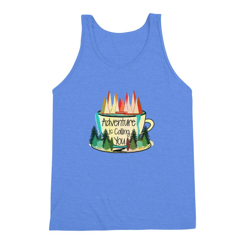 Adventure Is Calling Men's Triblend Tank by Famenxt