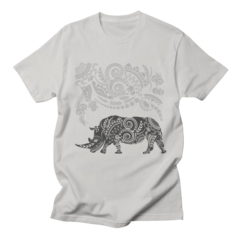 Ornamental Rhino Men's T-Shirt by Famenxt