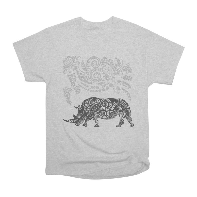 Ornamental Rhino Women's Heavyweight Unisex T-Shirt by Famenxt