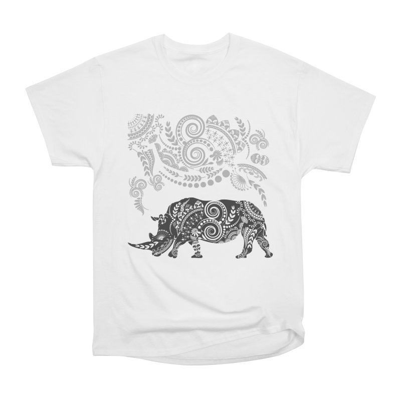 Ornamental Rhino Women's Heavyweight Unisex T-Shirt by Famenxt