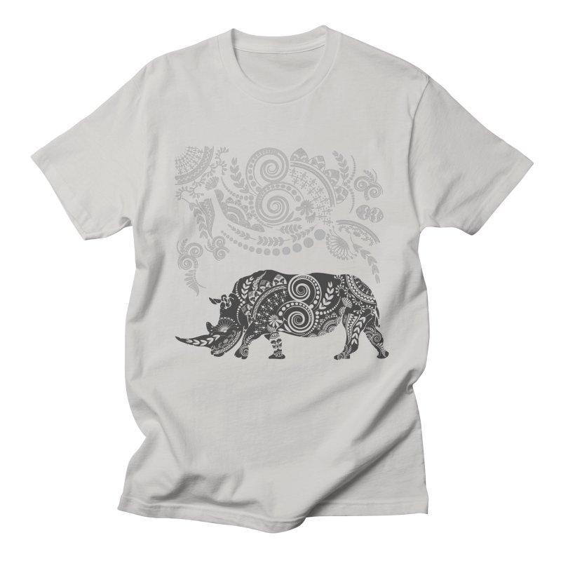 Ornamental Rhino Men's Regular T-Shirt by Famenxt