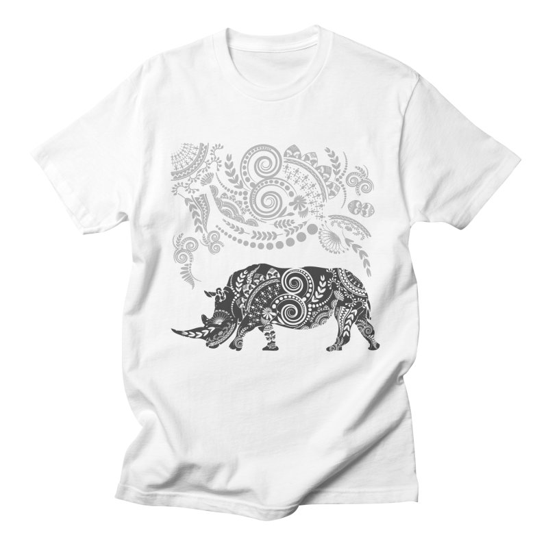 Ornamental Rhino Men's T-Shirt by Famenxt