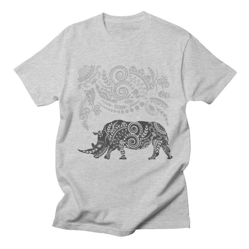 Ornamental Rhino Men's Regular T-Shirt by Famenxt