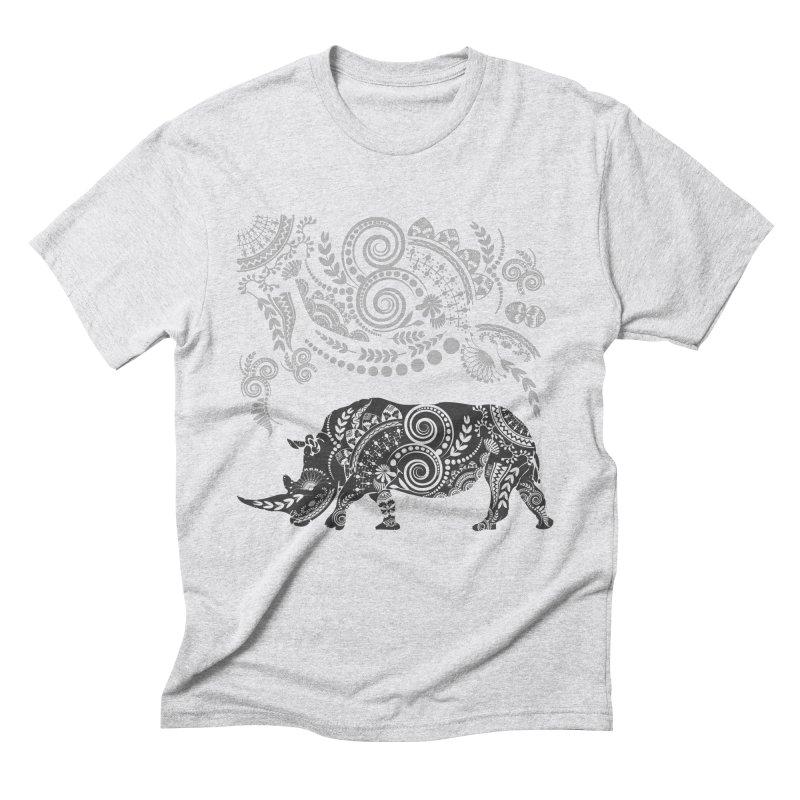 Ornamental Rhino Men's Triblend T-Shirt by Famenxt