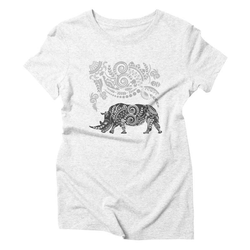 Ornamental Rhino Women's Triblend T-shirt by Famenxt