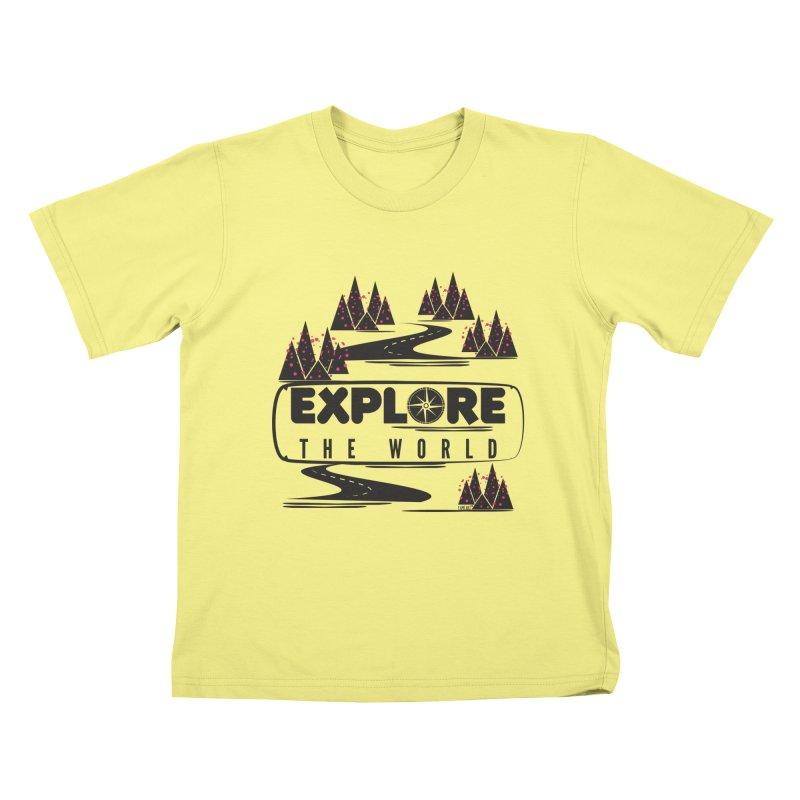 Explore the World Kids T-shirt by Famenxt