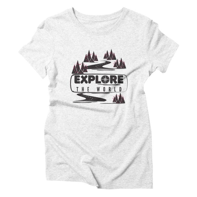 Explore the World Women's Triblend T-shirt by Famenxt