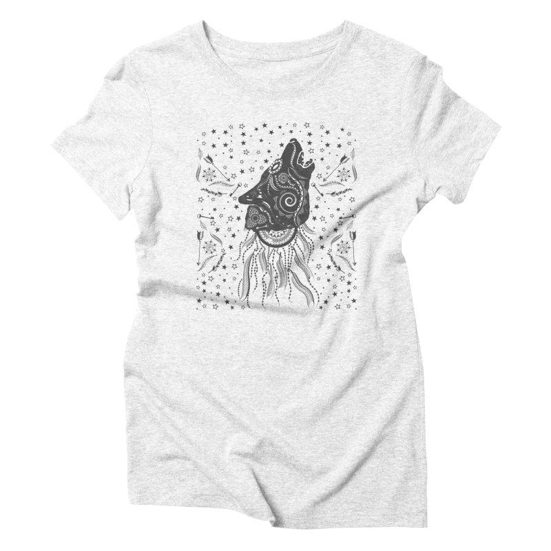 Bohemian Wolf Women's Triblend T-shirt by Famenxt
