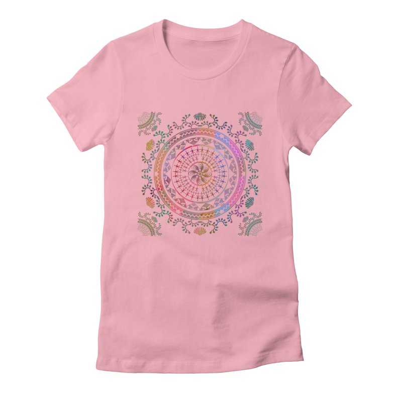 Mandala Women's Fitted T-Shirt by Famenxt