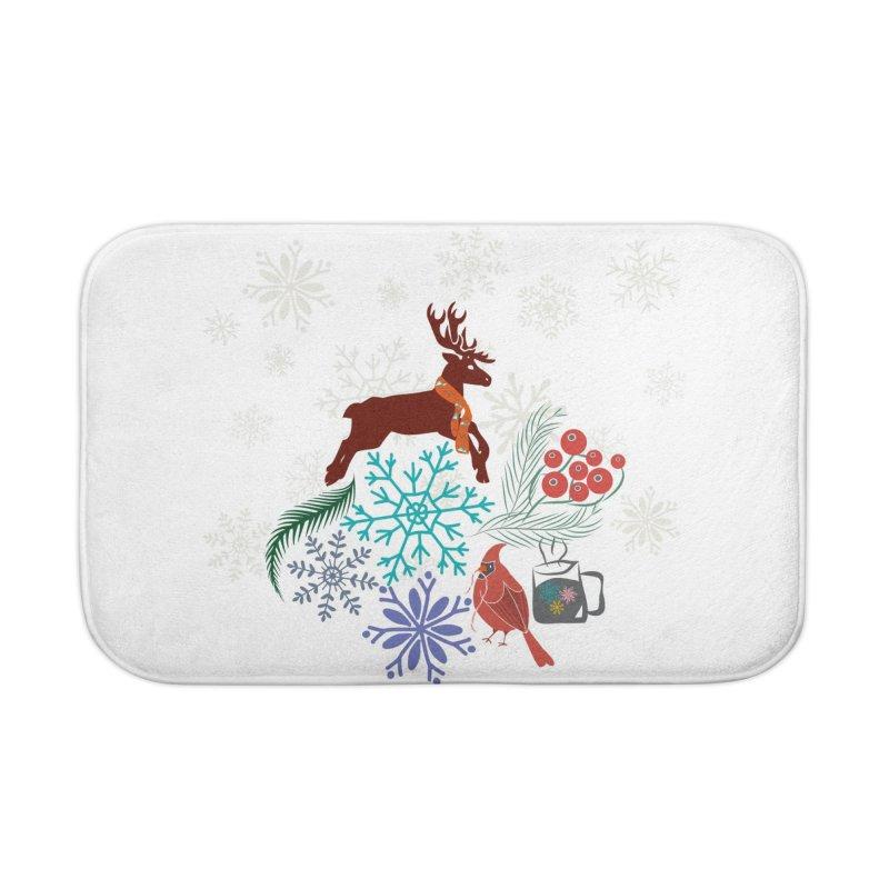 Winter Vibes Home Bath Mat by Famenxt