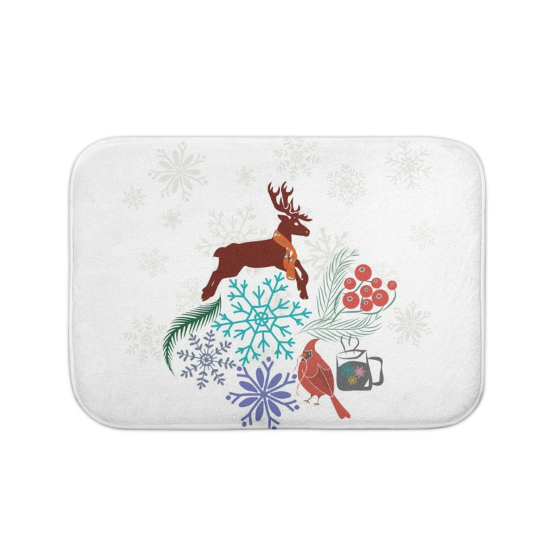 Winter Vibes Home Bath Mat by Famenxt