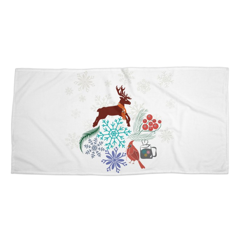 Winter Vibes Accessories Beach Towel by Famenxt