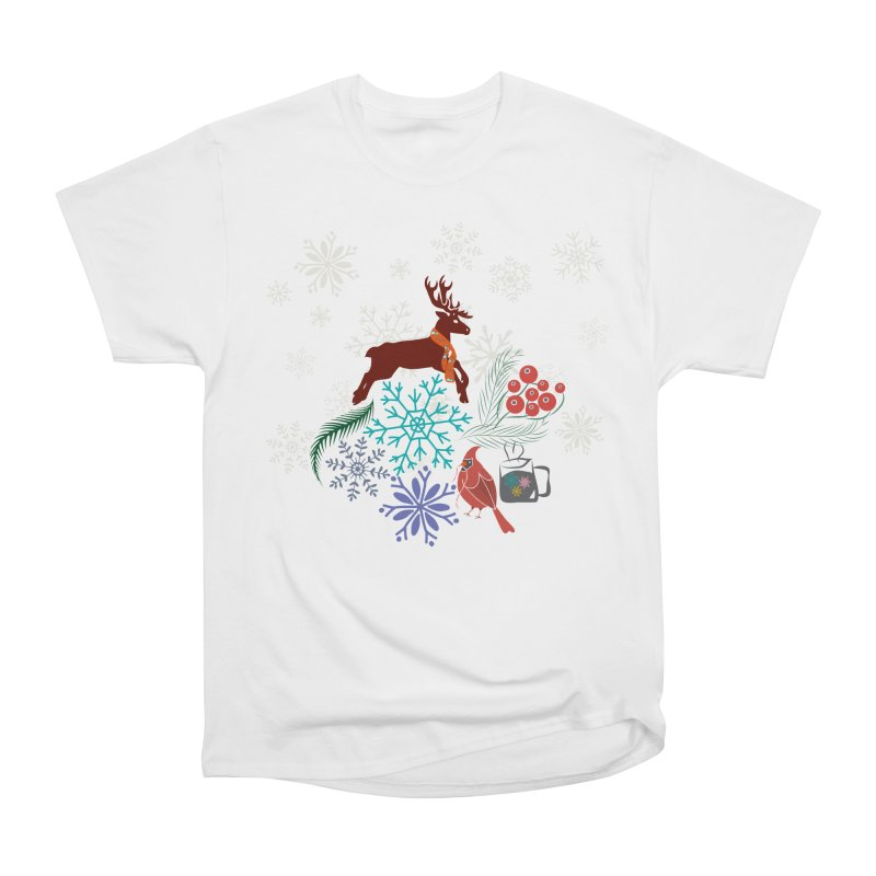 Winter Vibes Women's Heavyweight Unisex T-Shirt by Famenxt