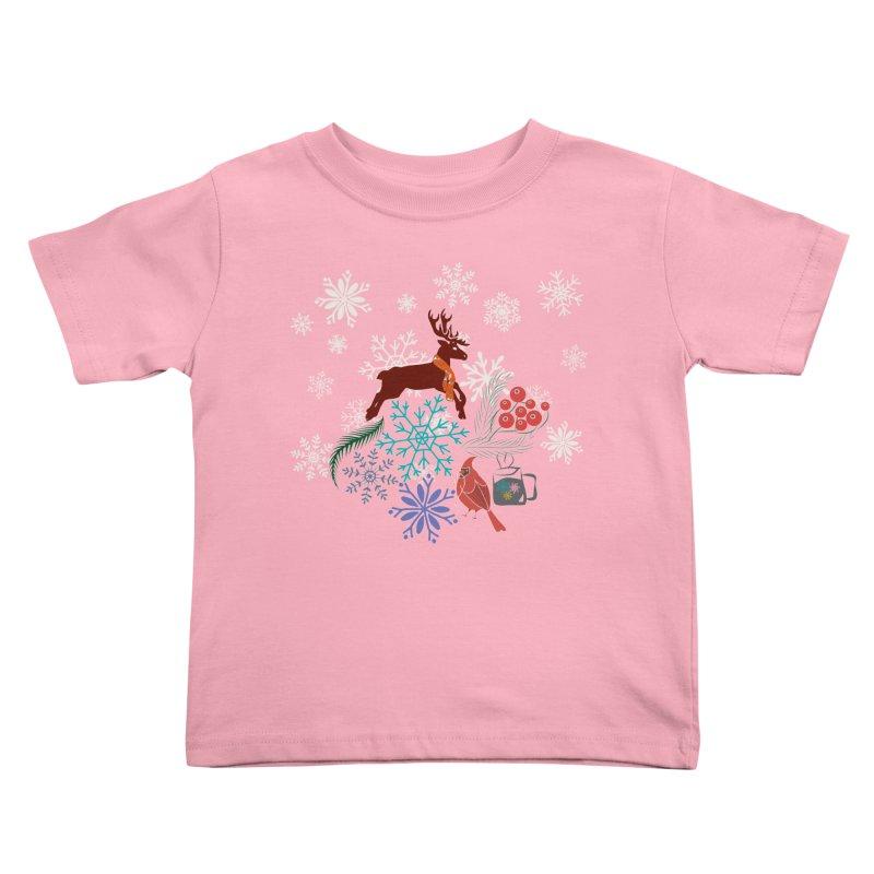 Winter Vibes Kids Toddler T-Shirt by Famenxt