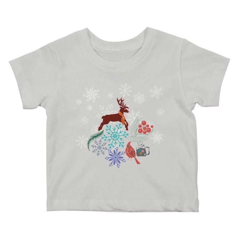 Winter Vibes Kids Baby T-Shirt by Famenxt