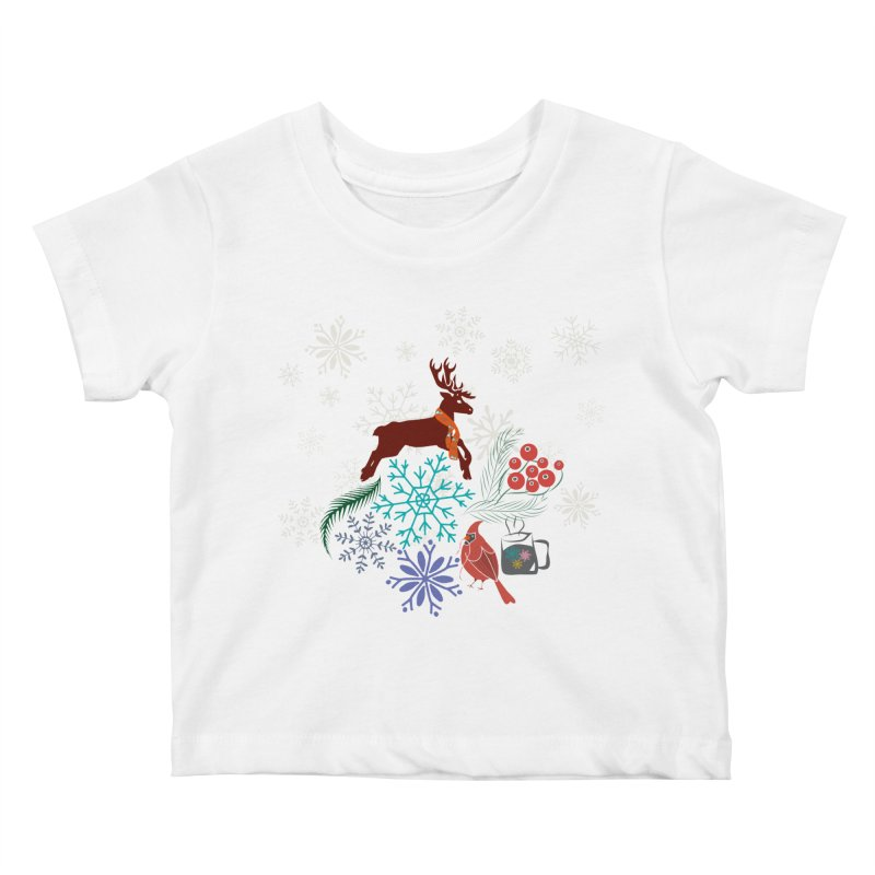 Winter Vibes Kids Baby T-Shirt by Famenxt