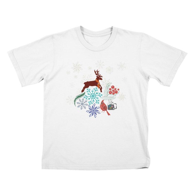 Winter Vibes Kids T-Shirt by Famenxt